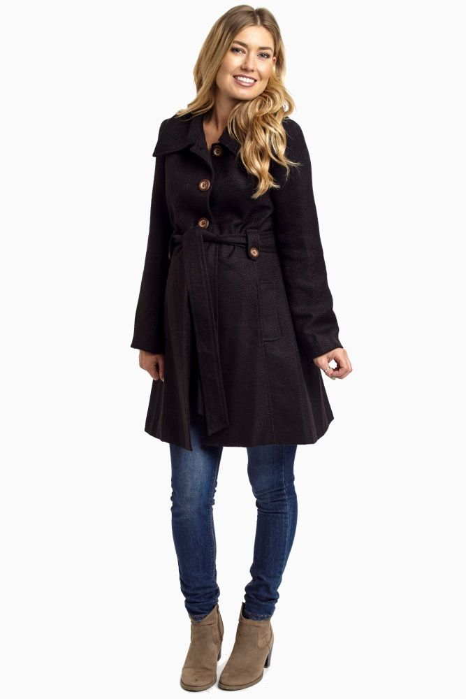 Black-Maternity-Coat