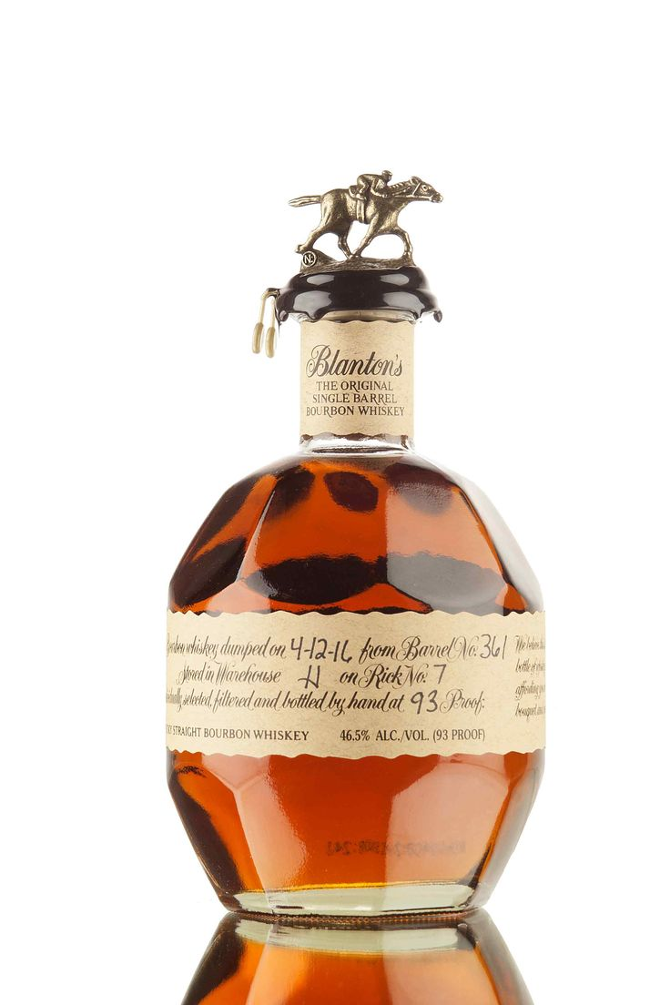 Only a handful of the very best barrels matured in the centre of warehouse H are chosen to be bottled as part of the multi award winning Blanton's Original, single barrel range. This release has been matured in barrel 361 and bottled by hand at 46.5% (93 proof).