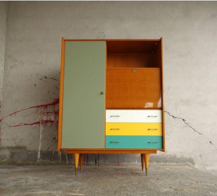 Plus de 1000 id es propos de meubles relooking sur pinterest vaisseliers - Relooking meuble vintage ...