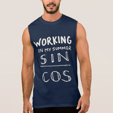Working On My Summer (Tan) Sleeveless Shirt - tap, personalize, buy right now!