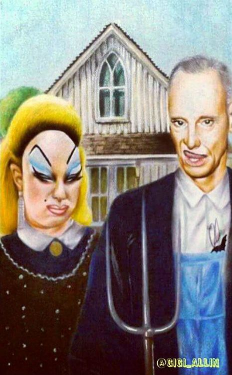 American Gothic version of Divine and John Waters | Dangerous Minds