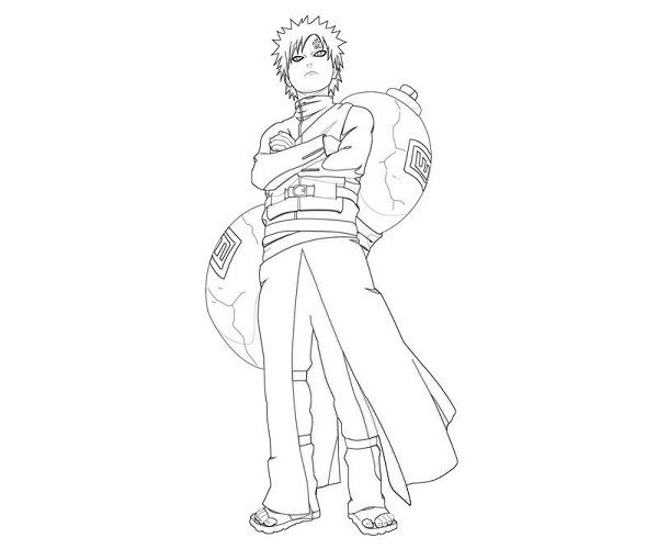 gaara coloring pages - photo#6