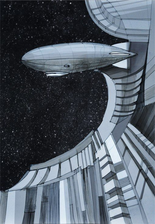 #illustration #space #airship #graphics