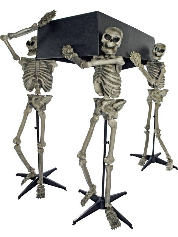 check out skeleton pall bearer set decorations props at costume supercenter from costume super - Skeleton Halloween Decoration