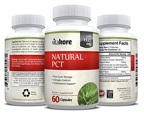 Vitakore Natural Post Cycle Therapy (PCT) Help Balance Hormone Levels, Control Estrogen, Support Testosterone | Tongkat Ali, Reservatol | 60 Veggie Capsules  Restore Hormone Levels - Designed to boost testosterone and control estrogen levels, our formula can help reduce recovery times and enhance physical gains.  Maintain Strength & Mass - Offering true post cycle and post-workout support, restoring essential hormones to help you retain strength, endurance and mass.  Support Liver Func...