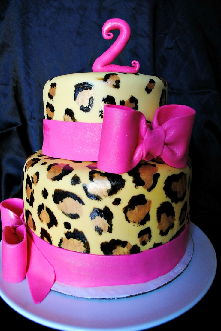Leopard Cake for Sammy's bday