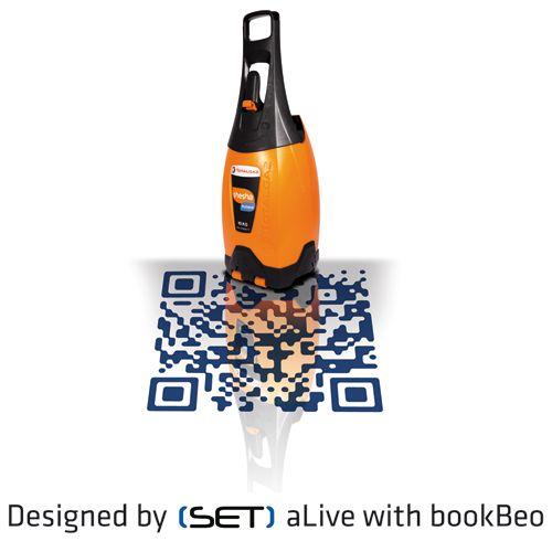 QR Code bookBeo designé pour Totalgaz par SET