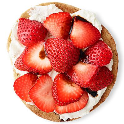 Try topping your bagel with strawberries, balsamic vinegar and sugar.