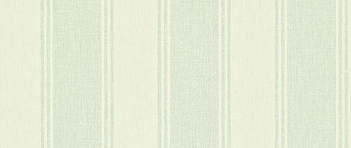 Addison Stripe Cream / Duck Egg wallpaper by Sanderson