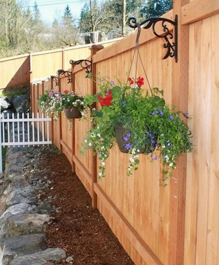 1046 best fence ideas images on pinterest privacy fences for Decorating your garden fence