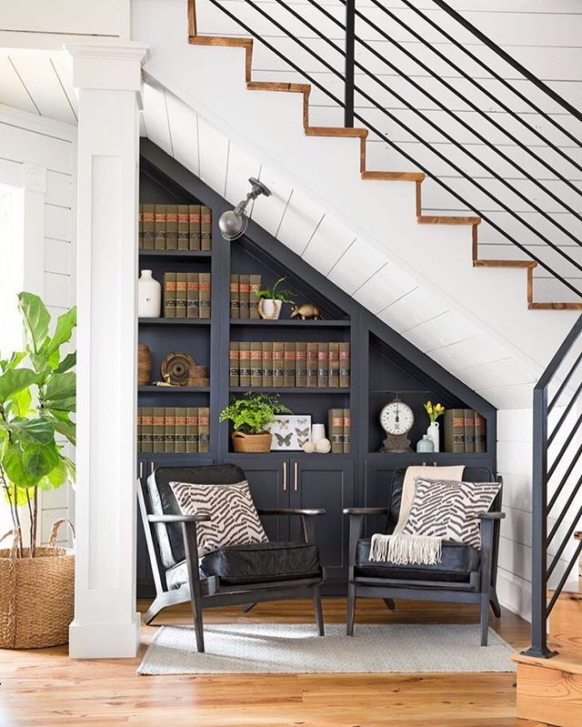 Late night pinning session and loving this reading nook idea designed by…