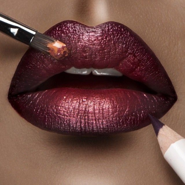 The perfect combination. #occ Lip Tars in Black Dahlia and Zhora lined with the Black Dahlia Lip Pencil.