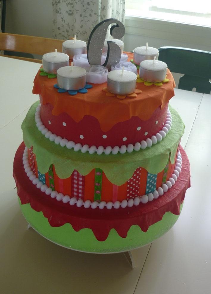 Fake birthday cake