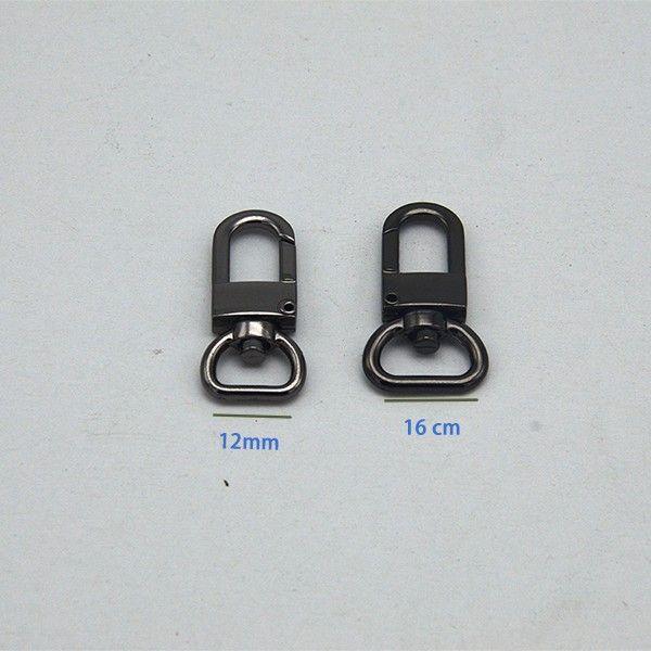 Gunmetal Lobster Swivel Clasps Clips - 100 pcs - 0.5 inch D-head inside wide 100pcs/lot