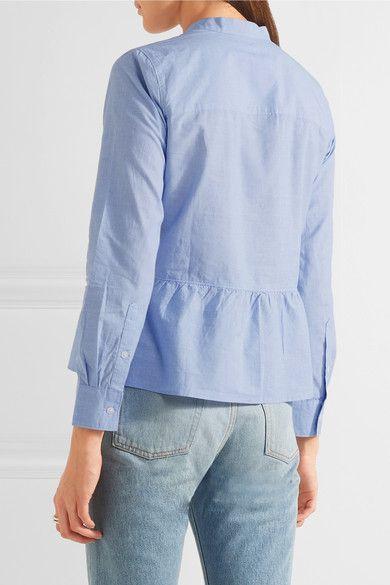 Madewell - Cotton Peplum Shirt - Sky blue - x large