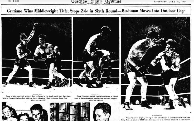 Rocky Graziano Wins Middleweight Title.‬ ‪※7/17/1947,Chicago Tribune‬