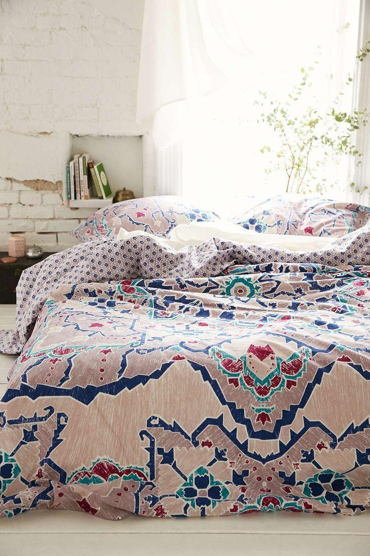 redecorating bedroom%0A Plum  u     Bow Amari Medallion Duvet Cover