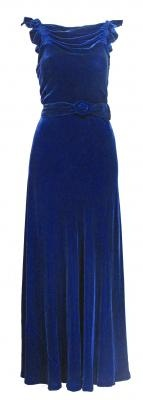 1930's midnight blue velvet gown  Look 4Blue Velvet, Evening Dresses, 1930S Velvet, 1930S Midnight, Vintage Fashion, Velvet Gowns, 1930 S Midnight, Beautiful Fashion, Midnight Blue