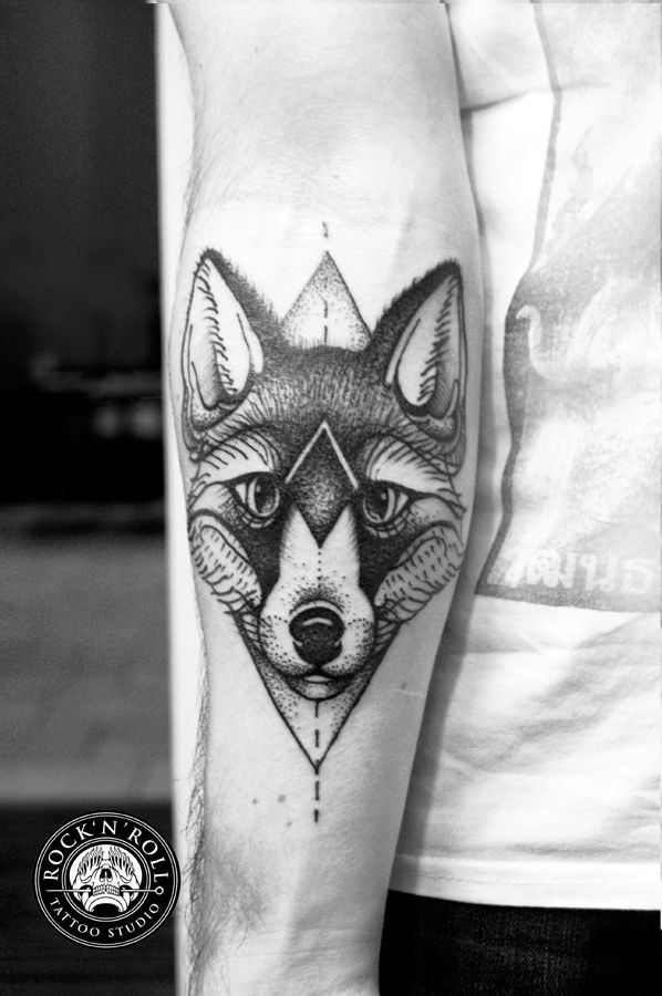 Fox Tattoo by Kasia Oskarbska