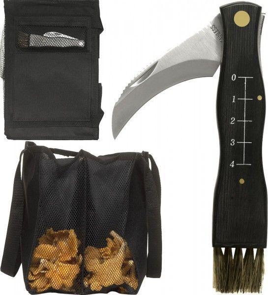 Pilz-Set Forest Pilzmesser Pilzsack mit 4 Taschen Pilz Sack Tasche Pilzsammler in Sport, Camping & Outdoor, Werkzeug | eBay