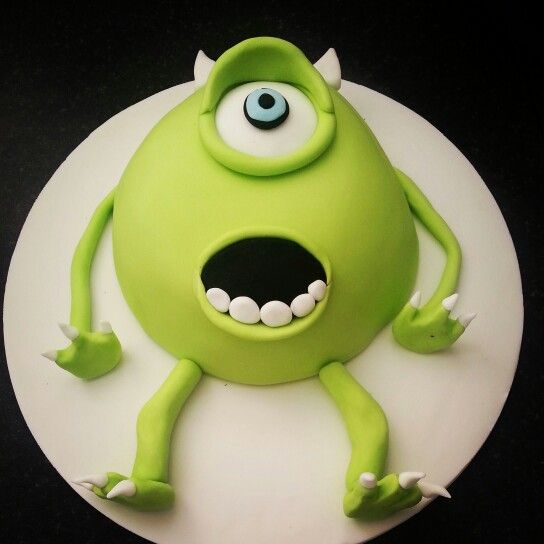 Monsters inc cake! But with Mike smiling?! :)