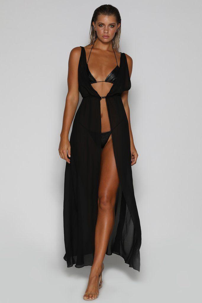 1b9fe156aa842 Milana Cover-Up Dress - Black - MESHKI | Meshki Clothing Brand ...