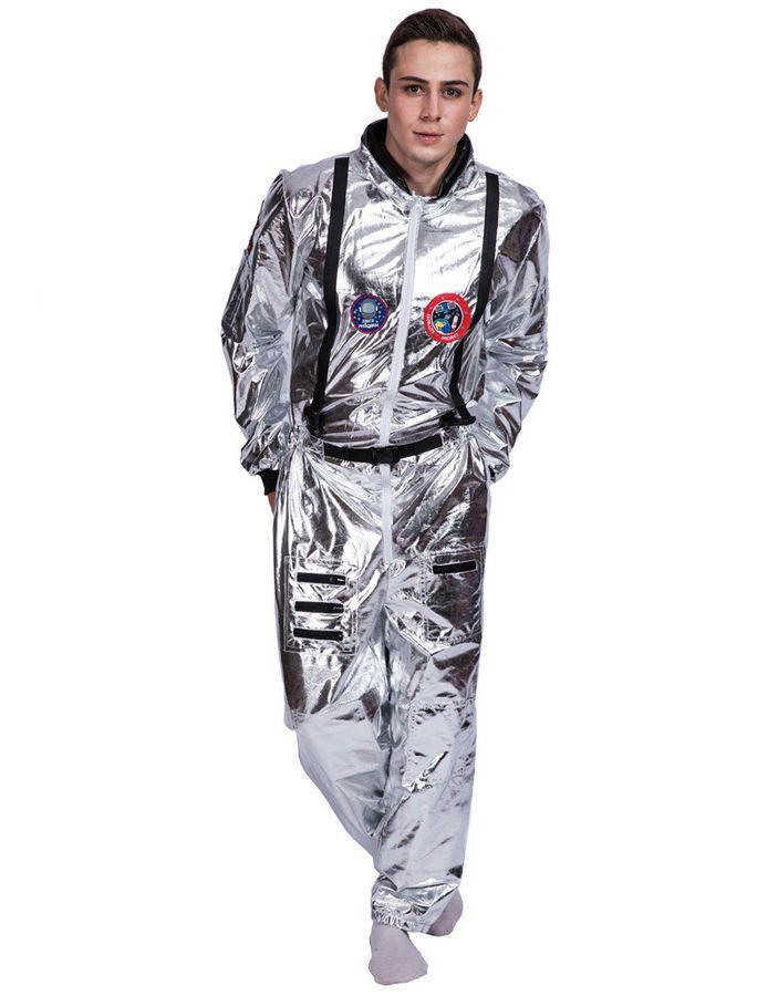 Astronaut Jumpsuit Costume Cosplay Space Suit White Shuttle Halloween UnisexProp