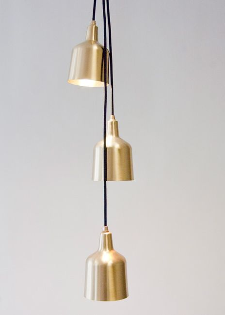 Spun brass pendant lights