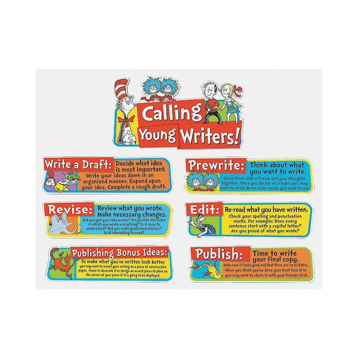 Eureka®+Dr.+Seuss™+Writing+Tips+Mini+Bulletin+Board+Set