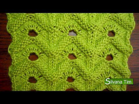 Silvana Tim - Tejido con dos Agujas, Crochet, Recetas de Cocina: PUNTO OLAS. Tejido con dos agujas # 56