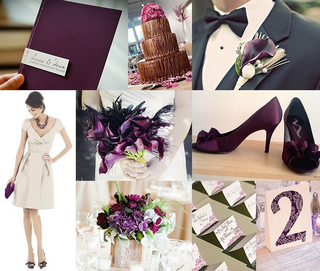 GSS Wedding Inspiration Board Plum And Beige Perfect Purple Color