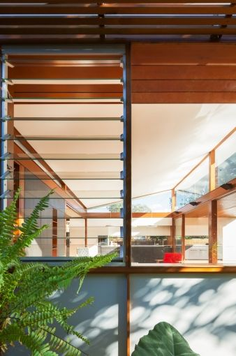 Louvres allow air to move through the home on hot days