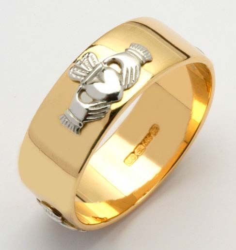 Best wide wedding bands for women Fado us Corrib Claddagh Collection has a variety of widths and