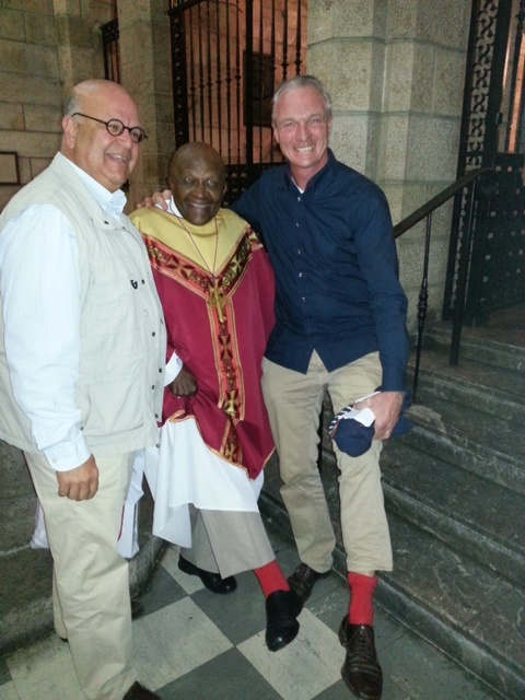 The Archbishop Tutu rocking his shoOops during a Friday service at St George's Cathedral!