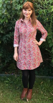 Rosa's Rosa shirt dress - sewing pattern by Tilly and the Buttons