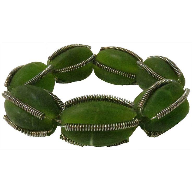 Park B. Smith Glass Beaded Napkin Ring 12-pk., Green