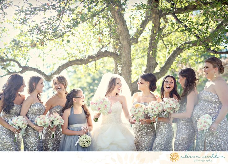 I would have never thought I would, but I actually really LOVE these sparkly bridesmaid dresses!