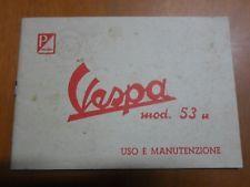LIBRETTO USO E MANUTENZIONE PIAGGIO VESPA 125 - MOD.53