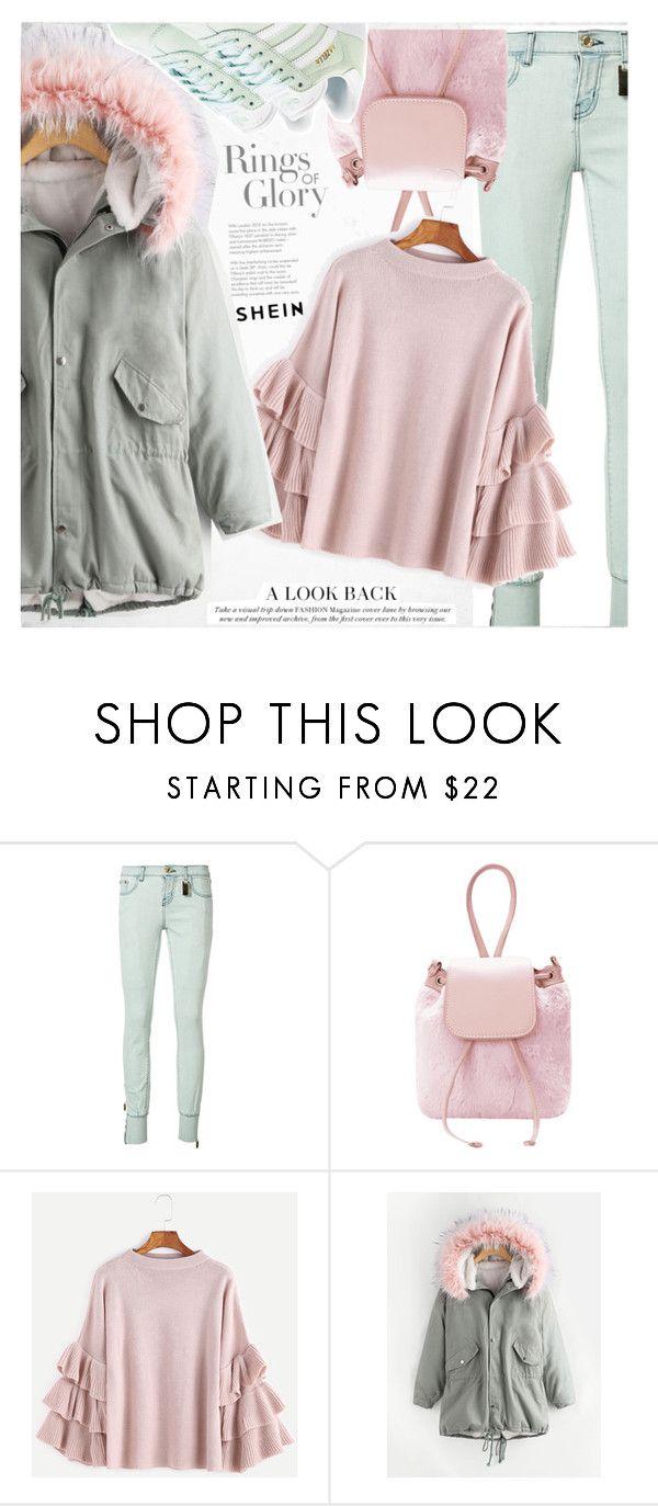 """Mint"" by vanjazivadinovic ❤ liked on Polyvore featuring Tiffany & Co., Thomas Wylde, adidas Originals, plaid, Sheinside, stripedpants and polyvoreeditorial"