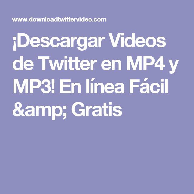 ¡Descargar Videos de Twitter en MP4 y MP3! En línea Fácil & Gratis