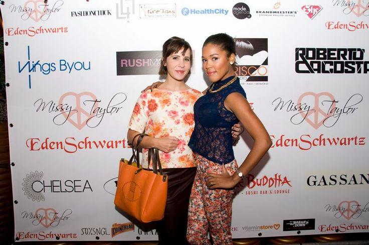 At the Eden Schwartz &Missy Taylor fashionshow!