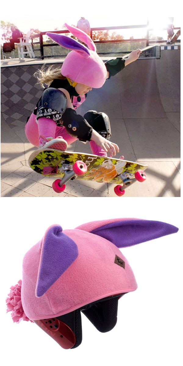 Bunny Rabbit Helmet Cover , oh and that awesome skateboard chick is like 7!