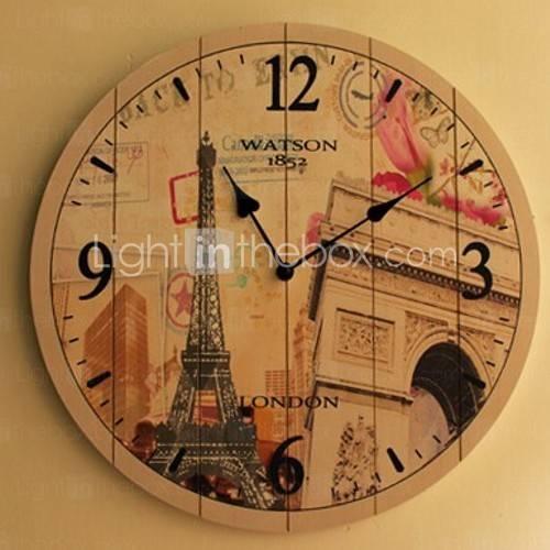 los países del euro estilo de reloj de pared