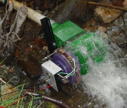 Hydroelectric power can also be used without a dam to generate electricity for home scale remote power systems.  These so-called micro-hydro installations can be a very good complement to a solar power system, as they produce electricity 24 hours a day.