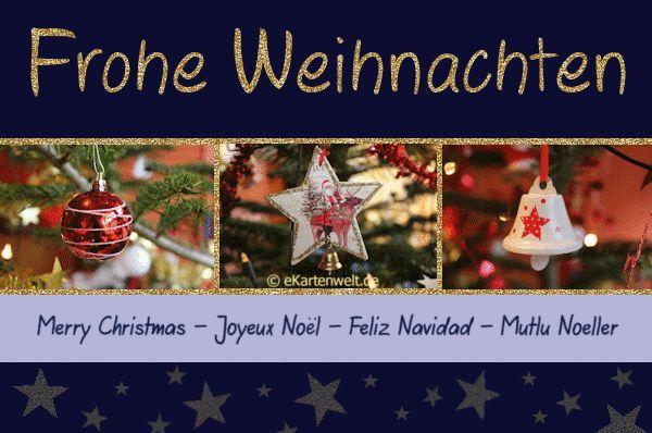 Frohe Weihnachten auf deutsch, englisch, französisch, spanisch und ...