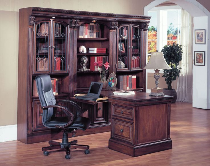 4 Pc Huntington Peninsula Desk Wall Set | Parker House | Home Gallery Stores