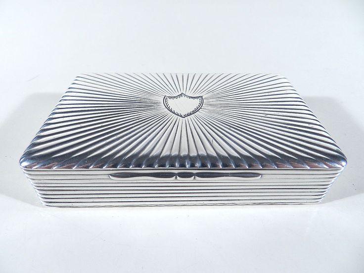 BIEDERMEIER Silber Schnupftabakdose ° Silberdose ° Beschauzeichen nach 1825