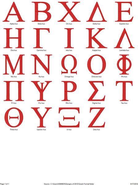 Greek letters formal collegiate monogram set embroidery