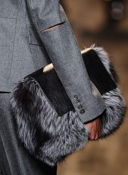 Fur Bag , inspires me to make something similar, maybe with some handles. - used designer handbags, cute handbags on sale, big handbags for women