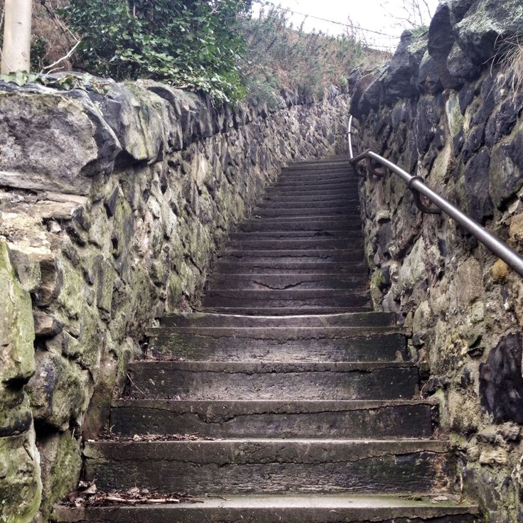 Stairs to the next level of Edinburgh. February '14